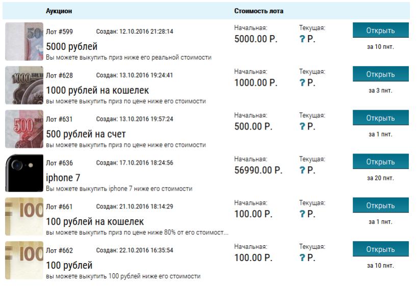 Подробности о новом проекте клуба Offerinvest - Аукционах