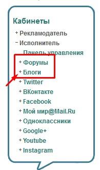 список соцсетей