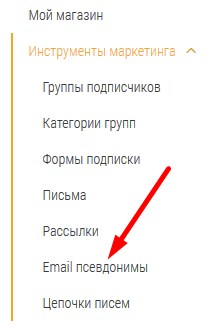 email псевдонимы