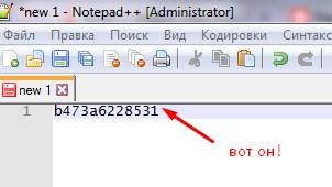 вставить текст от yandex.ru в Notepad++
