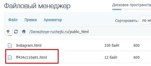 загружаем файл в public_html