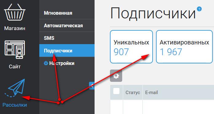 как выгрузить базу подписчиков из justclick