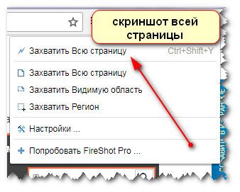 функции расширения FireShot