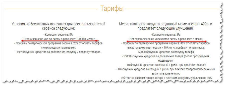 тарифы сервиса Spoonpay