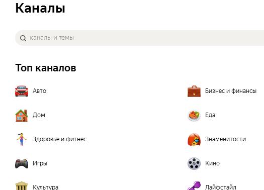 категории каналов